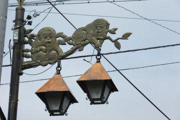 Обезьянки - эмблема городка