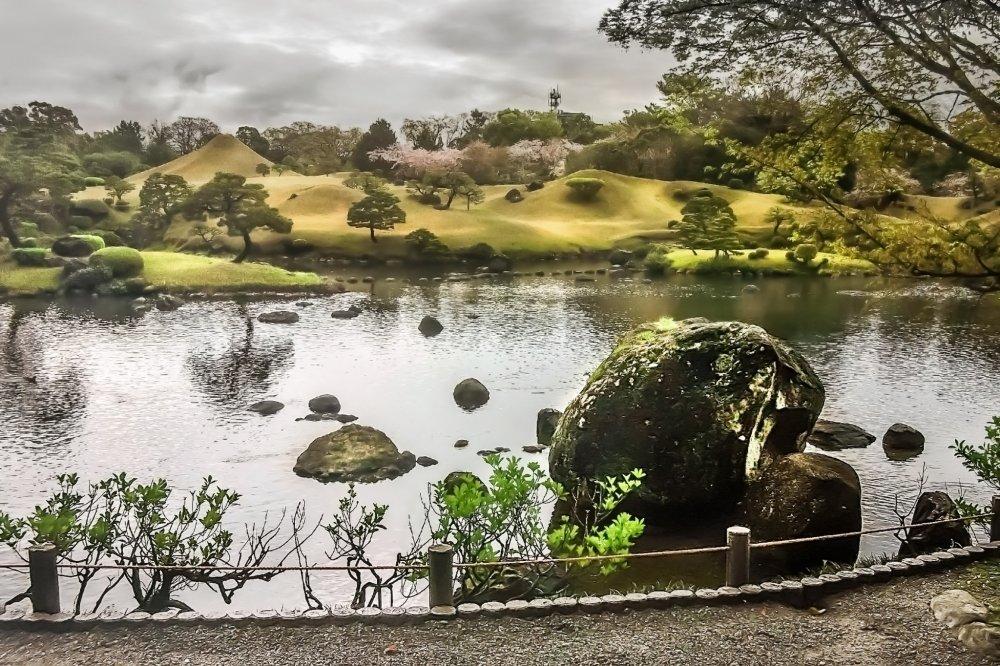 Ce grand lac est basé sur une source naturelle