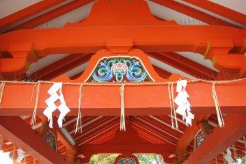 Inari shrines are bright orange color