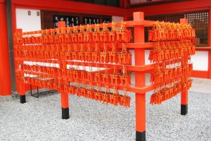 Ema of Fushimi Inari Taisha are also bright orange, almost red color