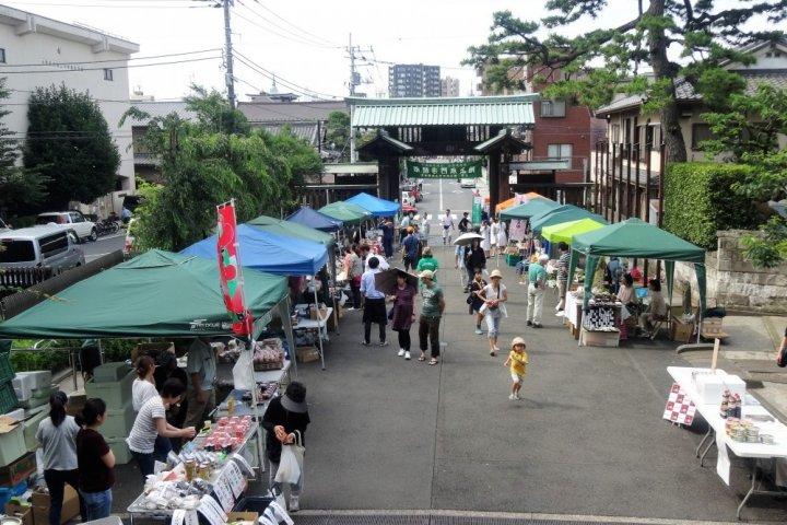 Marché du Temple Honmonji à Ikegami