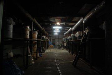 Inside the Edo Period brewery at Baba Honten