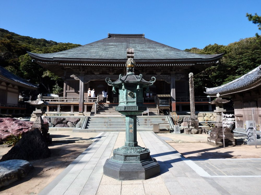 The temple was founded by Kobo Daishi in 822