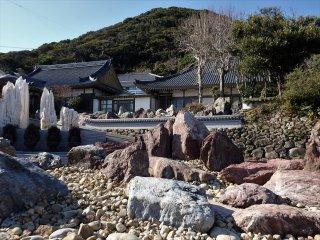 The temple contains a unique rock garden