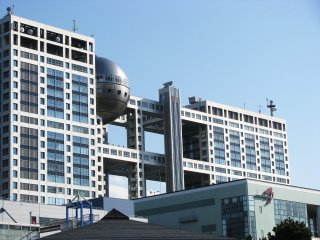 Fuji TV Building is a landmark in Odaiba