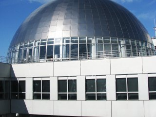 The sphere has an observation deck on all sides