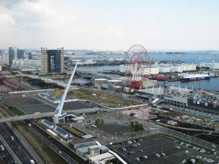 The view towards the water front in Odaiba