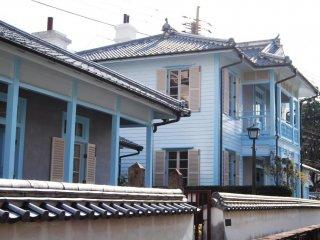 Western-style houses in Higashiyamate district of Nagasaki City