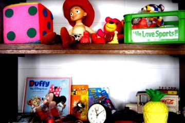 An Ecletic collection of American toys at Half Time Pension Dive Shop and Bar at Aharen Beach Tokashiki Kerama Islands Okinawa