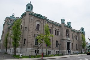 "The Bank of Japan Otaru Museum, found on the former ""Wall Street of the North,"" Nichigindori."