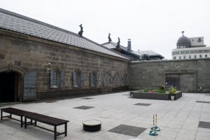 The central courtyard of the Otaru Museum of Nature and History.