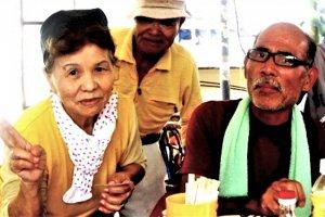 The kind grandmother that took me in at the Okinawa Soba Shop in Aharen Beach Tokashiki Island Okinawa