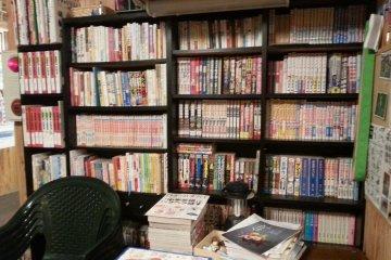 Shelf of comics
