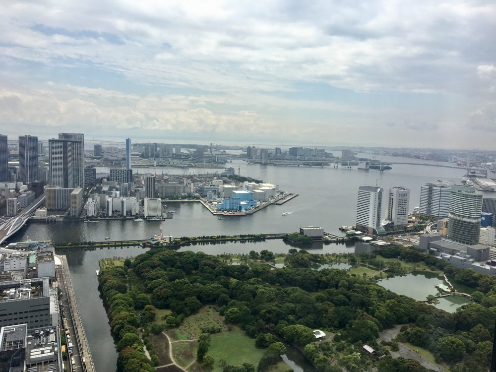 Tokyo Bay as seen from the observation area