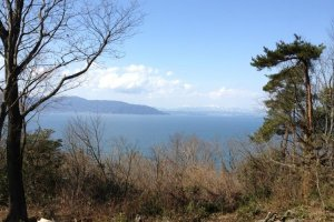 Lake Biwa from the top of Okishima