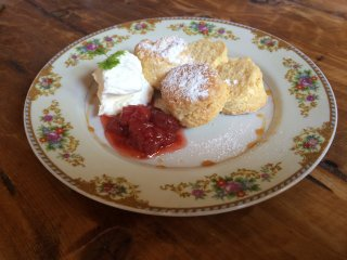 Should try scone and hand made jam