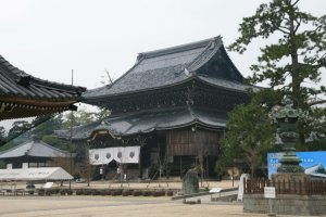 Built in the 1740's, the twin roofed Nyorai-Do worship hall.