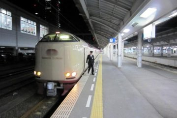 The Sunrise Seto waiting for departure at Takamatsu Station