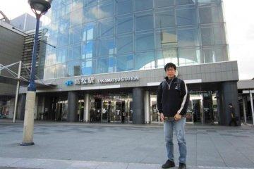 Takamatsu Station the start of the Sunrise Seto Train to Tokyo via Kyoto and Nagoya