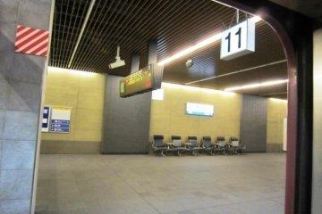 The Sunrise Seto waiting for departure at Osaka Station on its way from Takamatsu to Kyoto Nagoya Yokohama and Tokyo