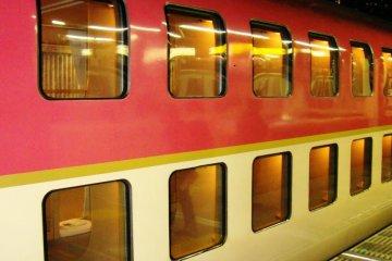 Sunrise Seto Double Decker Train Close up