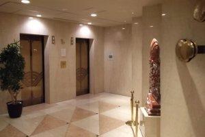 The elevator hall