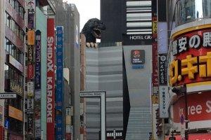 Detalle de la cabeza de Godzilla