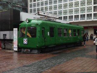 On board! An old train on display