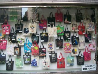 A display of student works at Bunka Gakuen