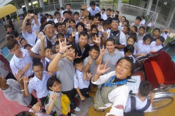 Selfie with students