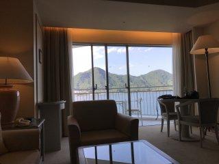 Vista do quarto do nosso hotel
