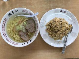 Shio ramen and chahan