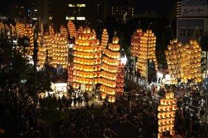 Festival de linternas- Akita Kanto