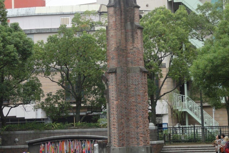 Resta pouco da construção original da Catedral de Urakami, a qual tinha sido terminada em 1925. Ao visitar o Parque da Paz podemos ver como este canto do edifício estava próximo do epicentro da detonação atómica.