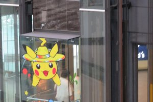 Even the elevator was decorated with Pikachu