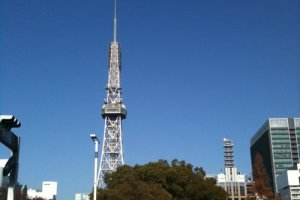 Nagoya's famed TV Tower in Hisaya Odori Central Park