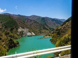 Emerald waters of the Kurobe Dam