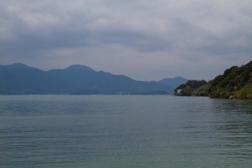The calm waters of Funakoshi Bay