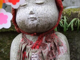 Each of the jizo is unique in its own way