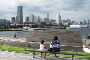 Вид Йокогамы с пирса Осанбаси