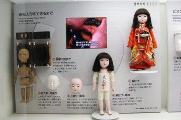 Процесс изготовления японской куклы