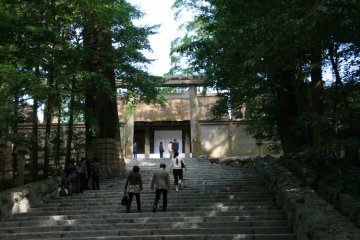 <p>Photos are not allowed in the inner sanctum of Ise Shrine</p>