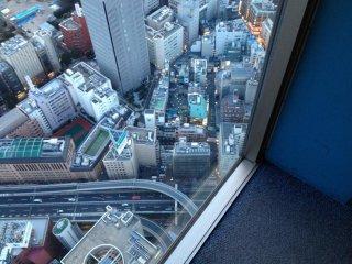 Walk up windows offer vertigo inducing views