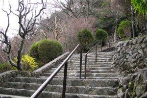 Лестница, ведущая к канатной дороге