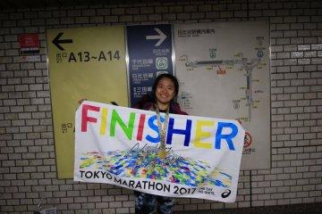 Finisher of the Tokyo Marathon 2017