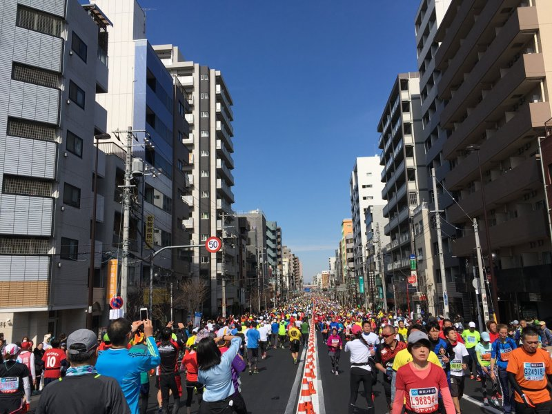 Colourful sea of people