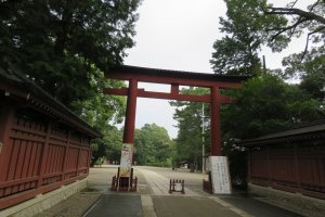 Entrance to Hikawa Jinja Shrine