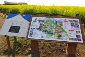 Le Soleil, park map with the seasonal flowers in bloom