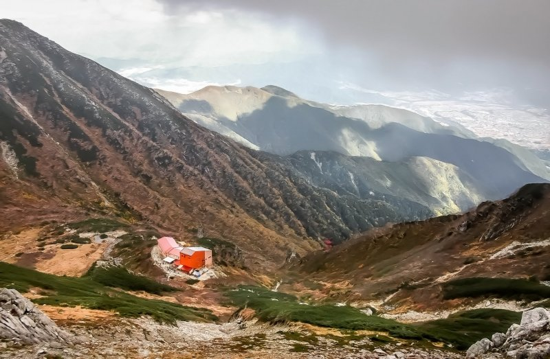 One of several picturesque mountain huts which you will encounter