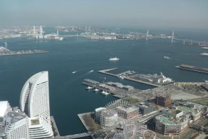 The picturesque Minato Mirai 21, from above